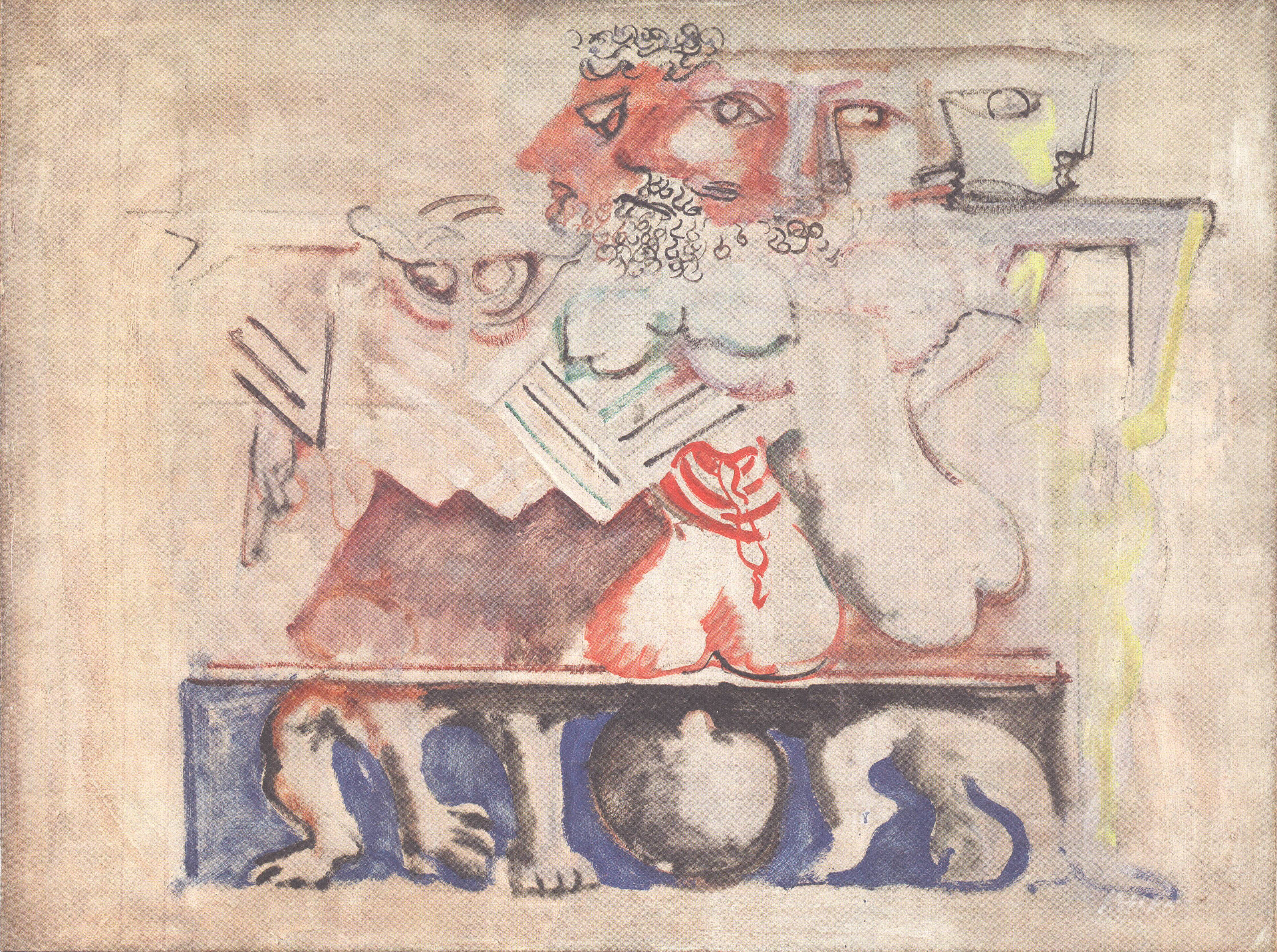 Mark-Rothko-Antigone-1941.-Oil-paint-and-charcoal-on-canvas-86-x-116-cm